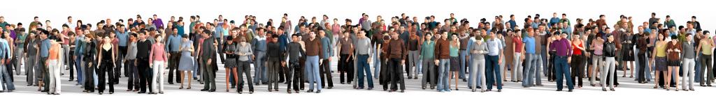 Menge an Mitarbeitern als Symbol für die Organisationsintelligenz